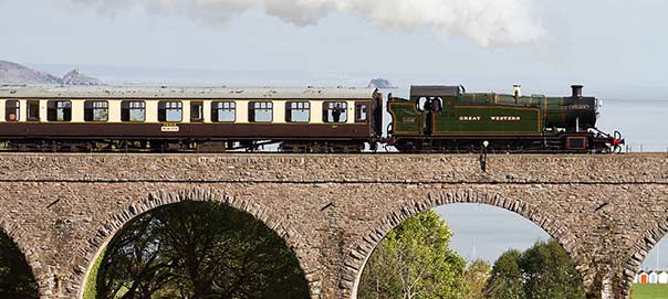 Steam Train on the Round Robin Trip in Devon