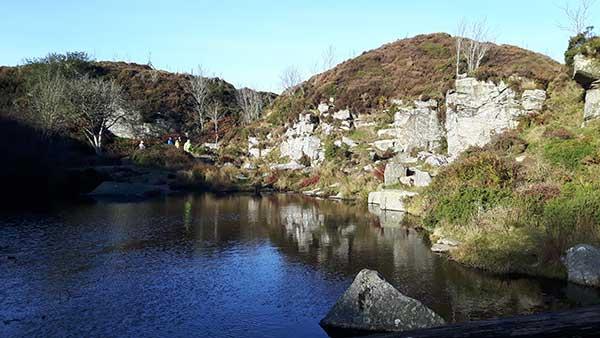 Haytor Quarry view