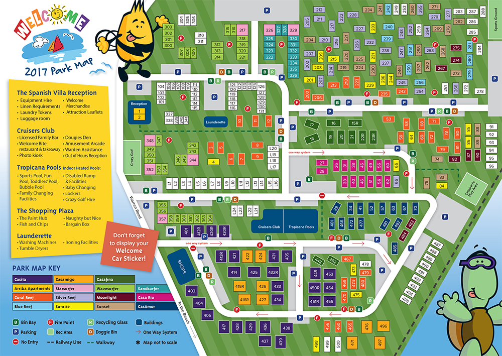 Welcome Family Park Map 2017