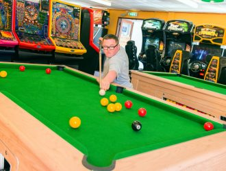Pool Tables are available in the Games Room and Arcade at Welcome Family Holiday Park Dawlish Warren