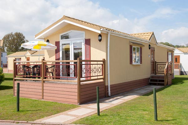 Exterior view of Casafina 3 Bedroom Lodge at Welcome Family Holiday Park
