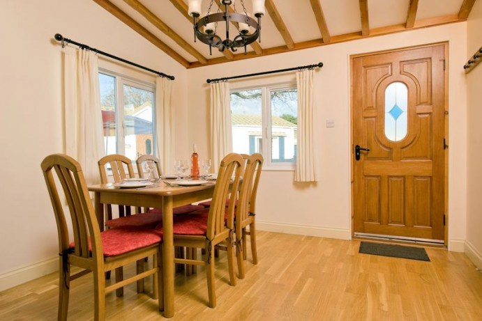 Dining Room at Casamigo Pet Friendly Lodge at Welcome Family Holiday Park