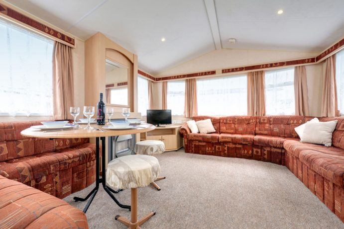 Living area in Coral Reef - Silver Reef 3 Bedroom Classic Caravan