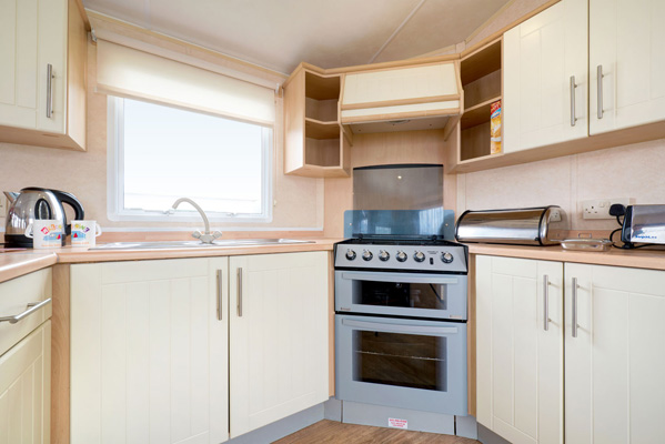 Kitchen in Coral Reef - Silver Reef 3 Bedroom Classic Caravan
