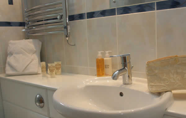 Bathroom in Casamigo Pet Friendly Lodge at Welcome Family Holiday Park.