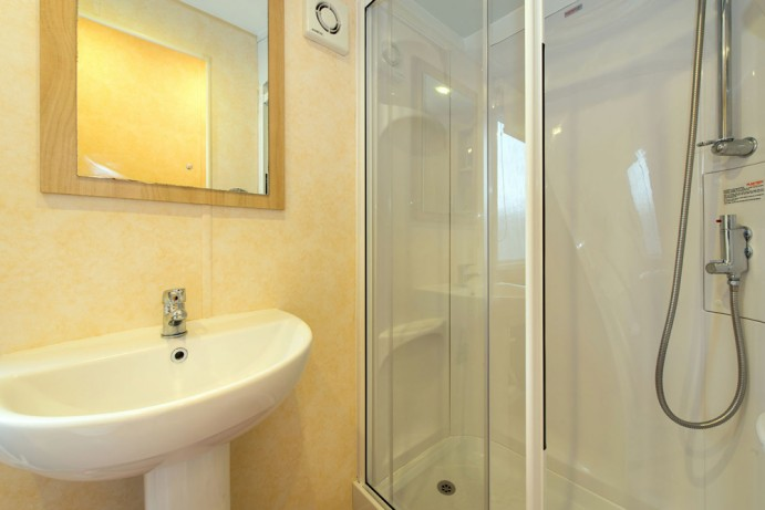 Shower Room in Sunrise 2 bedroom caravan at Welcome Family Holiday Park