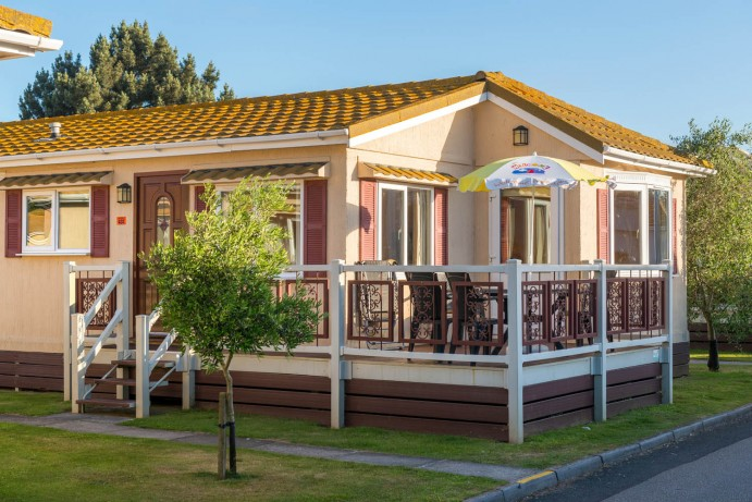 Exterior of Casamigo Pet Friendly Lodge at Welcome Family Holiday Park