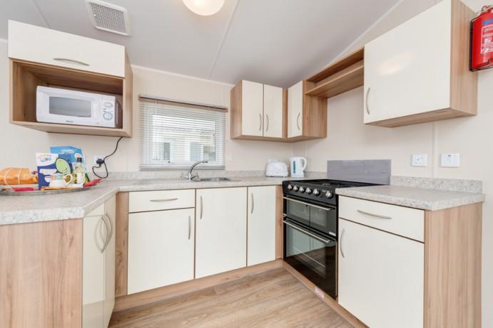 Kitchen in CasaRio 2 Bedroom Lodge Style Caravan