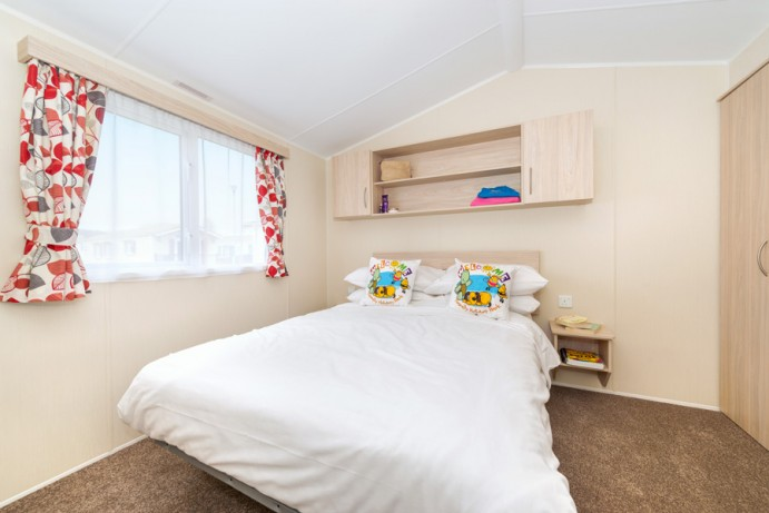 Large Master Bedroom in CasaRio 2 Bedroom Lodge Style Caravan