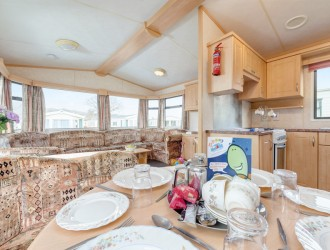 Dining area in Caravan