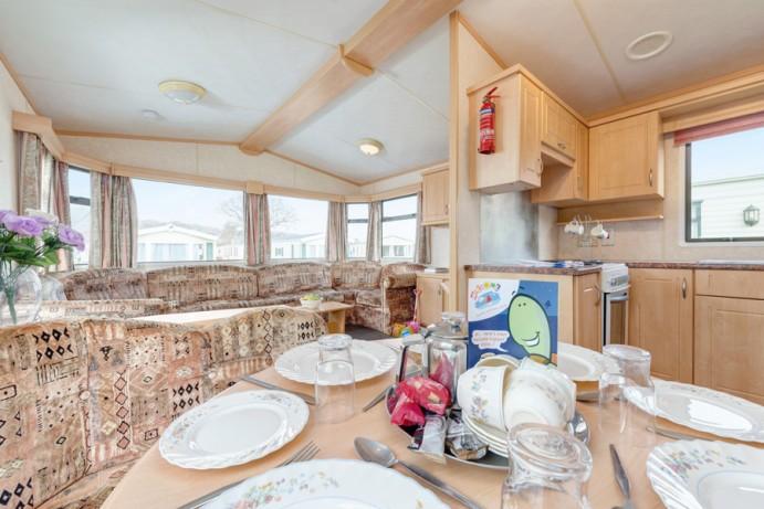 Dining area in Caravan