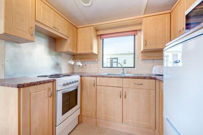 Well equipt kitchen area in Caravan