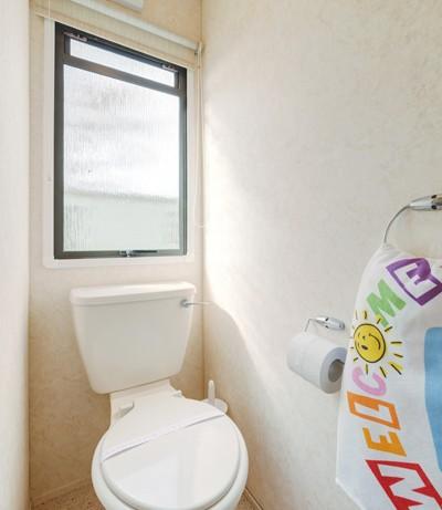 WC in Blue Reef 3 Bedroom Pet Friendly Caravan at Welcome Family