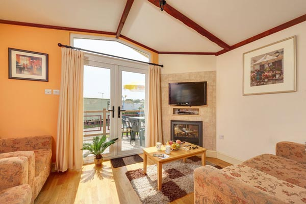 Lounge in Casafina 3 Bedroom Lodge at Welcome Family Holiday Park