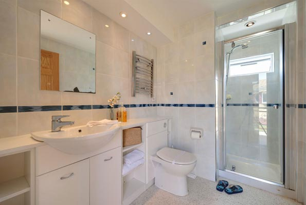 Shower room in Casafina 3 Bedroom Lodge at Welcome Family Holiday Park