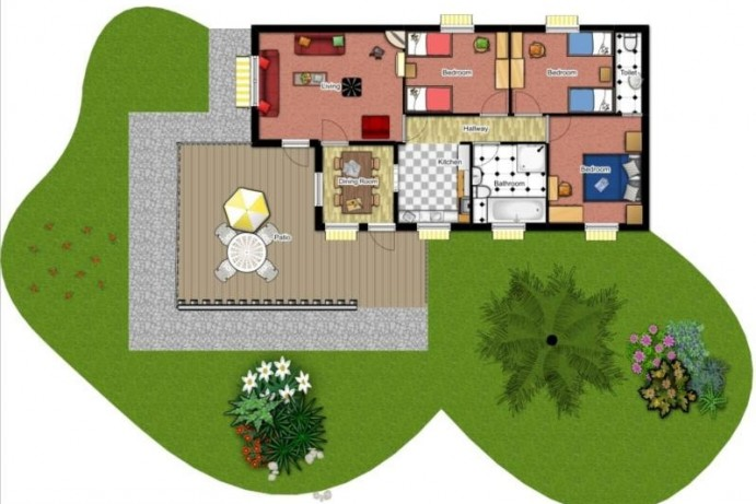 Floorplan of Casamigo Pet Friendly Lodge at Welcome Family Holiday Park