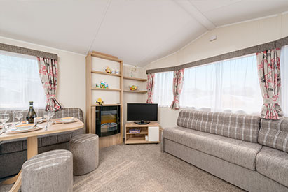 A selection of static caravans are available at Welcome Family