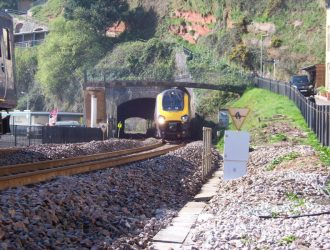 The Riviera Line runs along the coast near Welcome Family Holiday Park in Devon