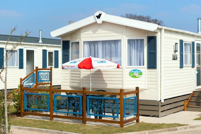 Patio of Casamor 3 bedroom caravan