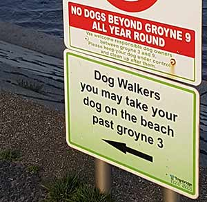 Dogs allowed on beach, Dawlish Warren, South Devon