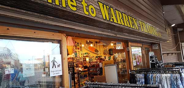 Warren trading, dog friendly shops at Dawlish Warren