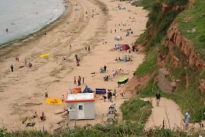 Sandy Bay Beach at Exmouth, Devon