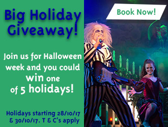 Join Us For Halloween for Your chance to win one of 5 holidays!