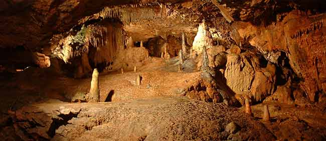 Kents Cavern Caves in Torquay.