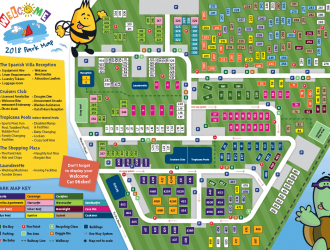 Small image of Park Map for Welcome Family Holiday Park