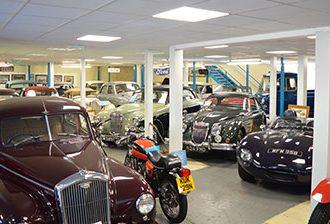 Cars in Moretonhampstead Motor Musuem.