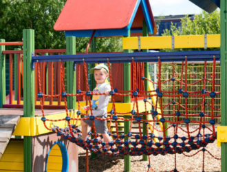 Child in Play Park at Welcome Family Holiday Park