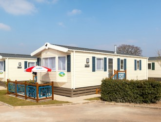 Exterior of Premier Caravan at Welcome Family Holiday Park