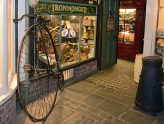 A penny farthing cycle at Bygones in Babbacombe, Torquay, Devon
