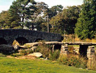 View of Two Bridges on Dartmoor, Devon.