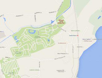 Small map of Dawlish Warren