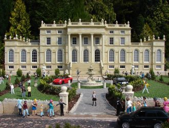 View of a model Mansion at the Model Village in Babbacombe, Torquay.
