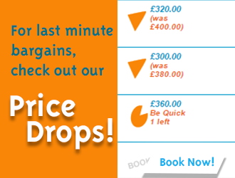 Pricedrops on Welcome Family Booking site.