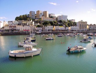 Torquay Harbourside, a view of the boats.