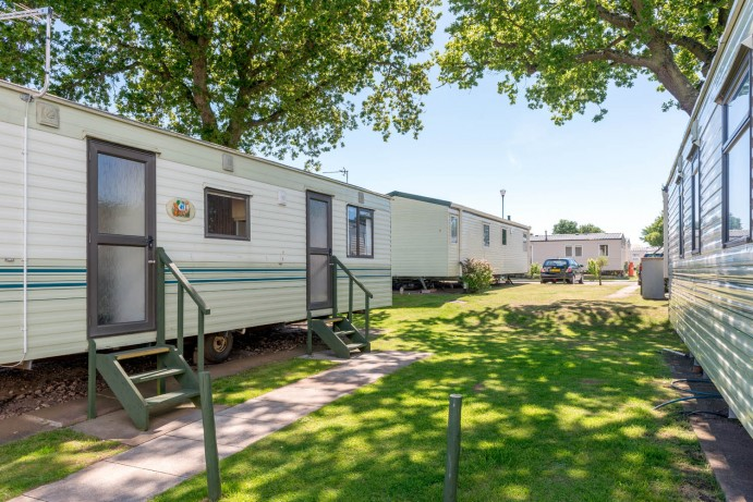 Typical setting of classic caravans at Welcome Family Holiday Park