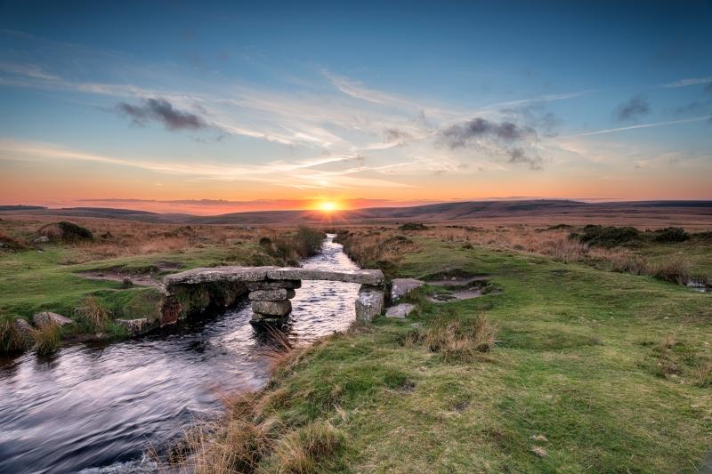 Bridge and stream on Dartmoor