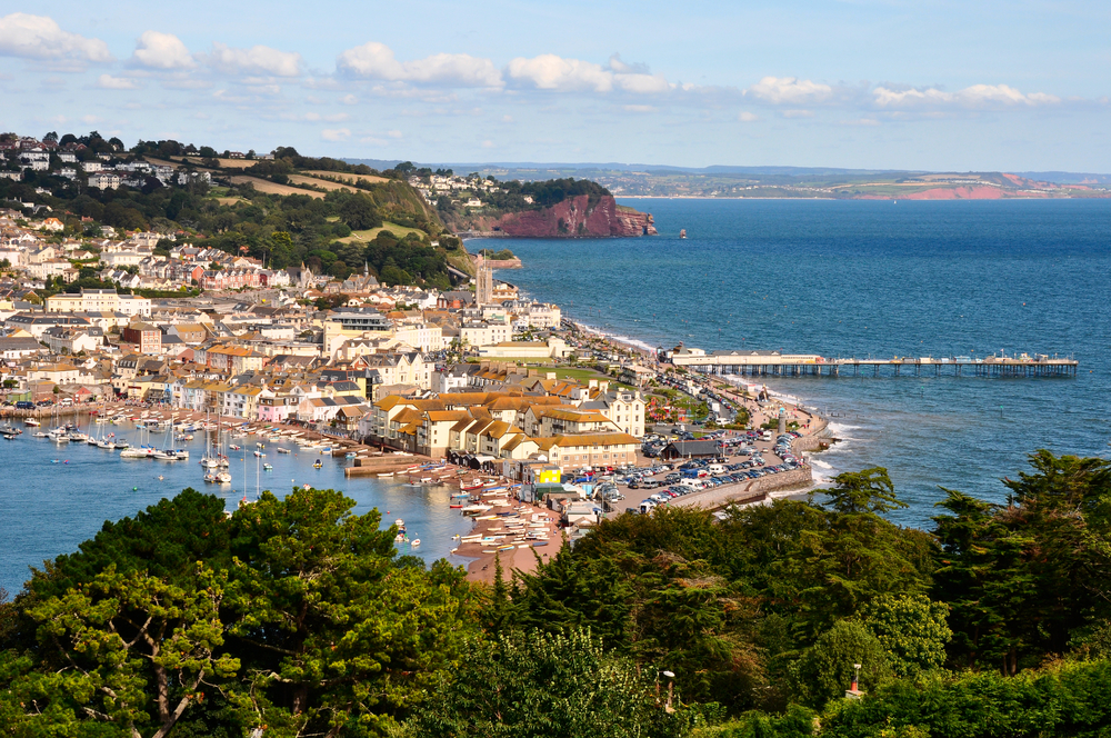 View of Teignmouth from Shaldon, South Devon