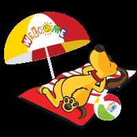 Dougy Dog Sunbathing