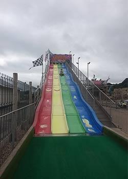 On the slide at Dawlish Warren