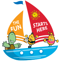 The fun starts here characters on boat