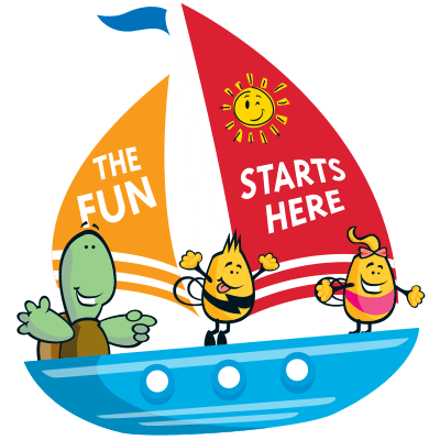 Welcome 3x characters on a boat