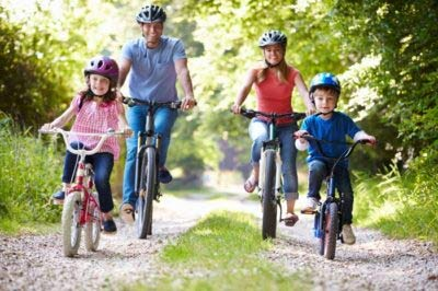 Family Day Out Cycling