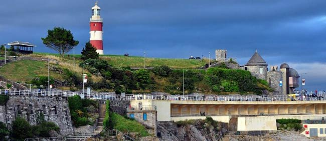 View of Plymouth Hoe and Lighthouse