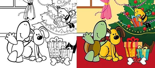 Christmas Colouring at Welcome Family
