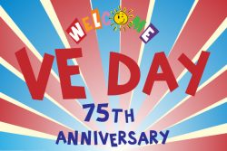 Welcome family VE Day logo