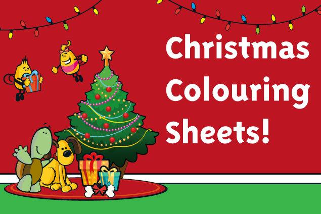 image for welcome family christmas colouring sheets